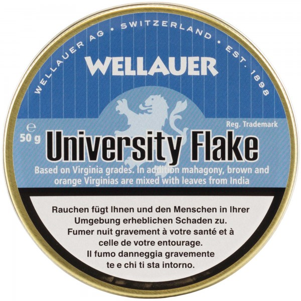 Wellauer's Pfeifentabak University Flake - 50g Tin