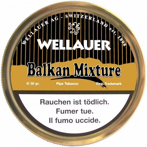Wellauer's Pfeifentabak Balkan Mixture - 50g Tin