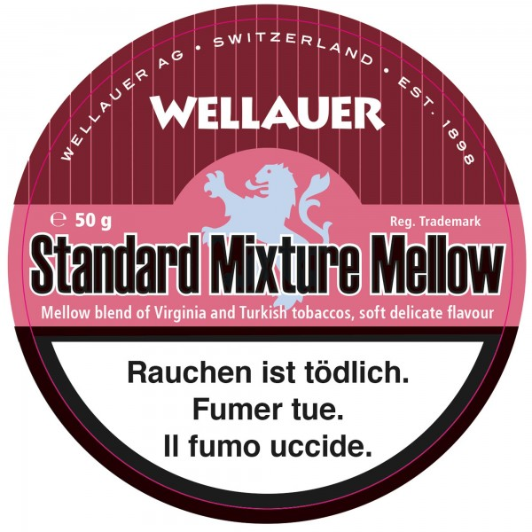 Wellauer's Pfeifentabak Standard Mixture Mellow- 50g Tin
