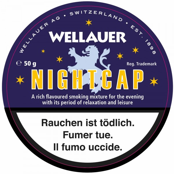Wellauer's Pfeifentabak Nightcap - 50g Tin